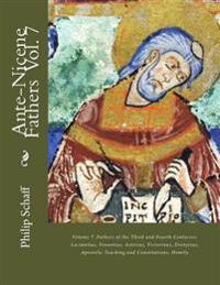 Ante-Nicene Fathers: Volume 7. Fathers of the Third and Fourth Centuries: Lactantius, Venantius, Asterius, Victorinus, Dionysius, Apostolic