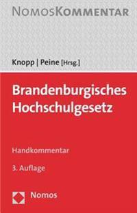 Brandenburgisches Hochschulgesetz: Gwhl U Stiftg-Euv U Bbghzg
