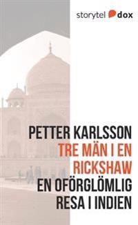 Tre män i en rickshaw