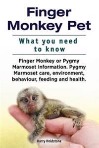 Finger Monkey Pet. What You Need to Know. Finger Monkey or Pygmy Marmoset Information. Pygmy Marmoset Care, Environment, Behaviour, Feeding and Health