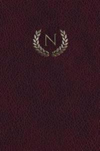"Monogram ""N"" Notebook: 150 Page Journal Diary Notebook"