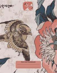 Dot Grid Notebook: Composition Notebook: Bullet Journal: Japanes Bird: (Dot Grid 8.5 X 11 Dots Spaced 4mm Apart)
