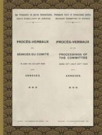 Proc s-Verbaux of the Proceedings of the Committee June 16th-July 24th 1920