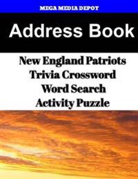 Address Book New England Patriots Trivia Crossword & Wordsearch Activity Puzzle