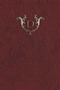 "Monogram ""D"" Any Day Planner Journal"