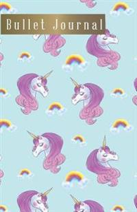 Bullet Journal: Rainbow Unicorn Notebook Cover, 110 Bullet Grid Paper Pages, 5.5 X 8.5 Size, Great Using for Dot Grid Journal, Dotted