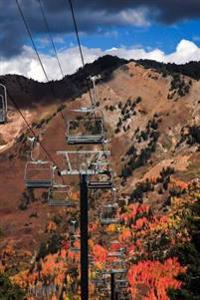 On the Chairlift in Fall Journal: Take Notes, Write Down Memories in This 150 Page Lined Journal