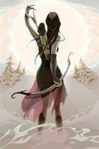 Elven Maiden Archer Grid Notebook