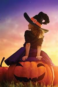 Little Witch Riding Jack-O-Lantern 2 Grid Notebook: 150 Page Grid Notebook Journal Diary