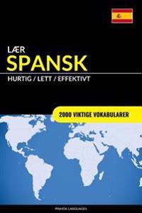 Lær Spansk - Hurtig / Lett / Effektivt: 2000 Viktige Vokabularer
