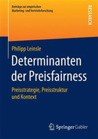 Determinanten Der Preisfairness