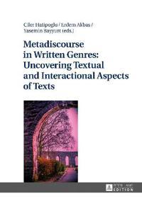 Metadiscourse in Written Genres