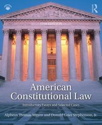 American constitutional law - introductory essays and selected cases