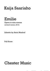 Emilie Opera In Nine Scenes (vocal score)