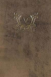 Monogram V Blank Book