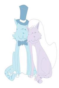 Wedding Journal Bride Groom Cats: (Notebook, Diary, Blank Book)