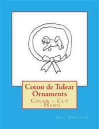 Coton de Tulear Ornaments: Color - Cut - Hang