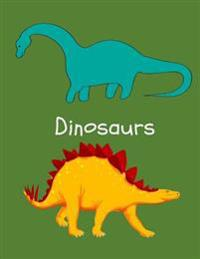 Dinosaurs: A Notebook/Sketchbook for Boys and Girls: Blank and Lined Notebook or Sketchbook for Drawing and Writing