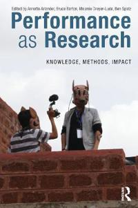 Performance As Research