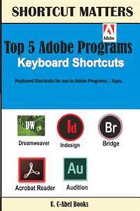Top 5 Adobe Programs Keyboard Shortcuts.