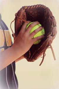 Softball Player Holding Up a Leather Mitt Sports Journal: 150 Page Lined Notebook/Diary