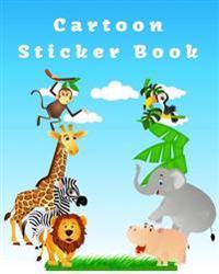 Cartoon Sticker Book  Blank Sticker Book  8 X 10  64 Pages - Dartan Creations - böcker (9781545005132)     Bokhandel