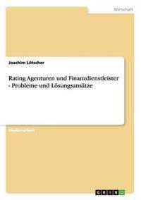 Rating Agenturen Und Finanzdienstleister - Probleme Und Losungsansatze