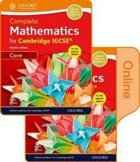 Complete Mathematics for Cambridge Igcserg + Online Student Book Core