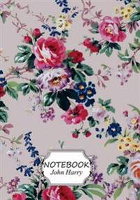Notebook: Flower Wallpaper: Pocket Notebook Journal Diary, 110 Pages, 7 X 10 (Notebook Lined, Blank No Lined)