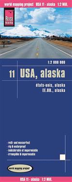 Reise Know-How Landkarte USA 11, Alaska (1 : 2.000.000)