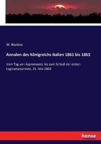 Annalen des Königreichs Italien 1861 bis 1863