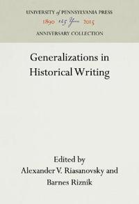 Generalizations in Historical Writing