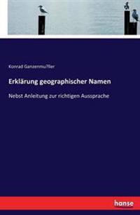 Erklarung Geographischer Namen