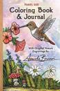 Travel Size Coloring Book & Journal: With Original Nature Engravings by Amanda Brannon