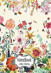 Notebook: Flower Wallpaper.10: Notebook Journal Diary, 110 Lined Pages, 7 X 10
