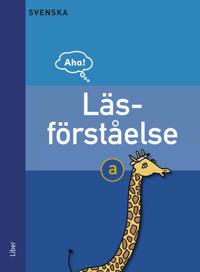 Aha Svenska Läsförståelse a