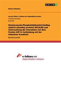 Klonierung Des Phosphatidylinositol Binding Clathrin Assembly Proteins (Picalm) Und Untersuchung Der Interaktion Mit Dem Protein App in Verbindung Mit Der Alzheimer Krankheit