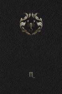 Monogram Scorpio Notebook: Blank Diary Journal Log Notebook