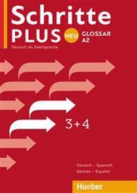 Schritte plus Neu 3+4. Glossar Deutsch-Spanisch - Glosario Alemán-Español