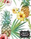 Bullet Journal: Pineapple and Flower - Blank Dotted Notebook 150 Pages(8x10) - Dot Journal: Bullet Journal Notebook