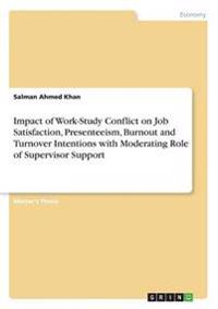 Impact of Work-Study Conflict on Job Satisfaction, Presenteeism, Burnout and Turnover Intentions with Moderating Role of Supervisor Support