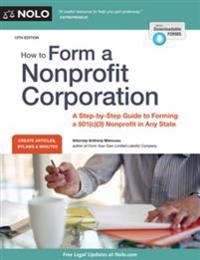 How to Form a Nonprofit Corporation (National Edition)
