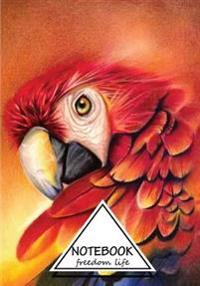 Notebook: Multi Colored Parrot Vol.3: Dot-Grid, Graph, Lined, Blank No Lined: Pocket Notebook Journal Diary, 120 Pages, 7 X 10 (
