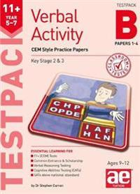 11+ verbal activity year 5-7 testpack b papers 1-4 - cem style practice pap