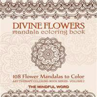 Divine Flowers Mandala Coloring Book