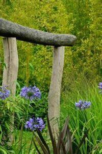 Beautiful Agapanthus Garden with a Japanes Gate Journal: Take Notes, Write Down Memories in This 150 Page Lined Journal