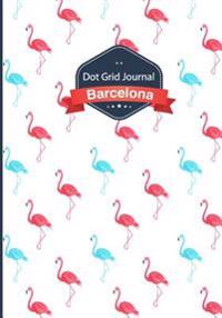 Dot Grid Journal - Flamingo: Soft Cover, 7x10 Inches, 130 Pages