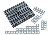 Numicon Talblock gråa, box med 80 stycken