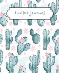 Bullet Journal: Cactus Green Pattern Dotted Journal - 150 Pages (Size 8x10) - With Bullet Journal Ideas (Bullet Journal Notebooks): Bu