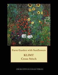 Farm Garden with Sunflowers: Gustav Klimt Cross Stitch Pattern